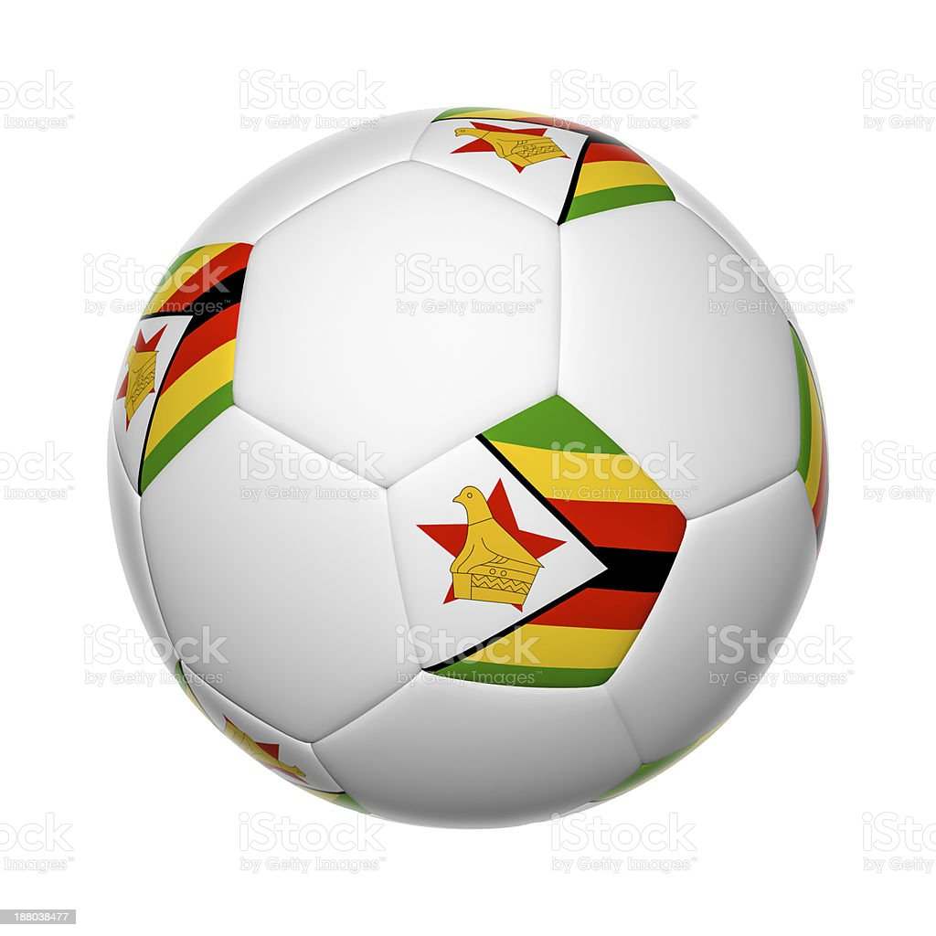 Zimbabwe soccer ball stock photo