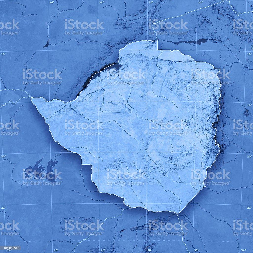 Topographic Map Zimbabwe.Zimbabwe Topographic Map Stock Photo Download Image Now