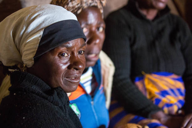 Zimbabwe: Villagers stock photo