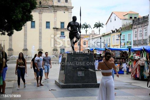"""istock zimbi statue of palmares in salvador""""n 1347379069"""