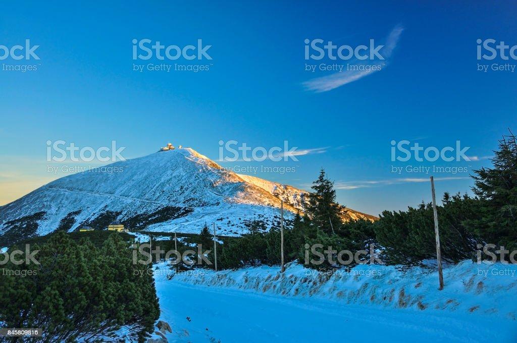Zimowy krajobraz górski stock photo