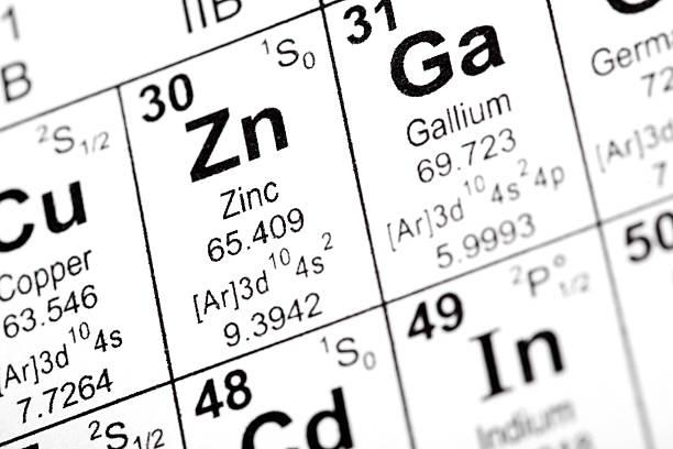 zinc and gallium elements - 鋅 個照片及圖片檔