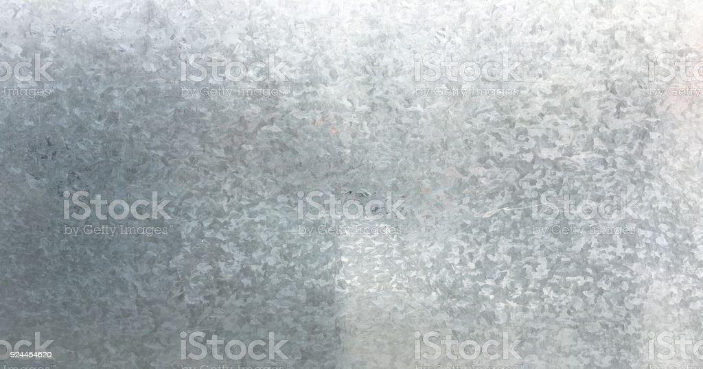 Zinc galvanizado grunge textura del metal. Viejo acero galvanizado, zinc metal textura fondo. Primer plano de un fondo de textura de placa de zinc galvanizado gris. - foto de stock