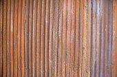 Zinc metal sheets corrosion with rusty abstract texture background or vintage wallpapers, Old house wall.