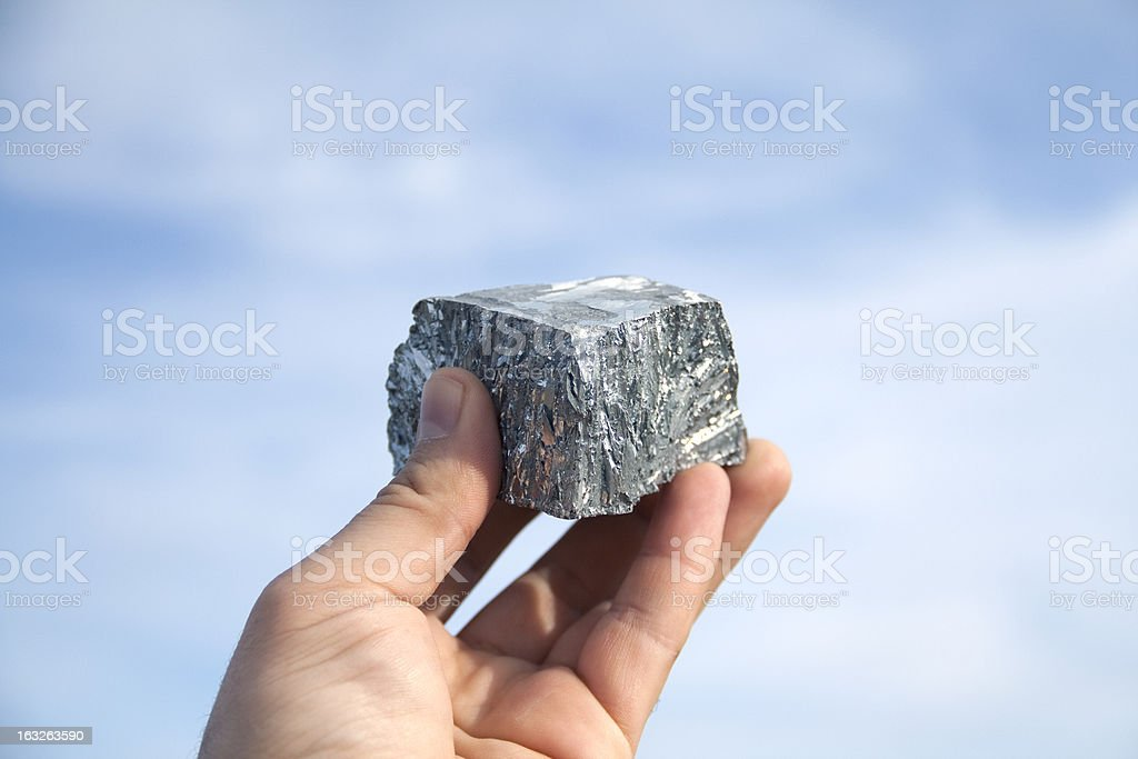 Zinc mine nugget stock photo