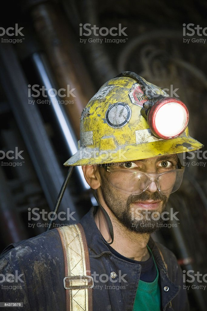 zinc miner, portrait royalty-free stock photo