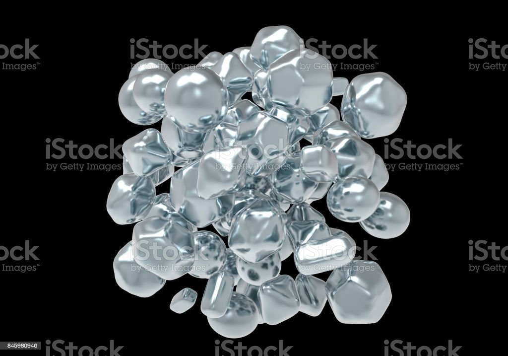 Zinc oxide ZnO nanoparticles stock photo