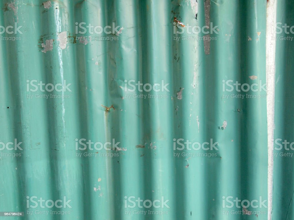 Zinc plate green royalty-free stock photo