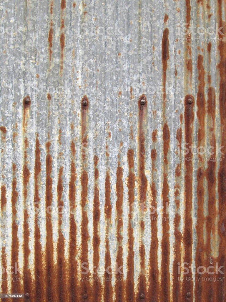 Zinc rust wall background royalty-free stock photo