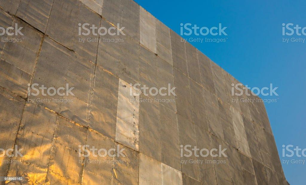 Zinc sheet on billboard. stock photo