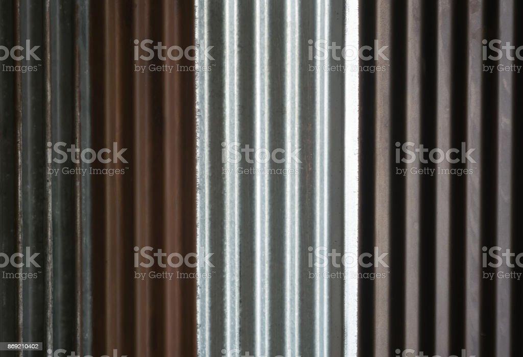 Zinc sheets stock photo