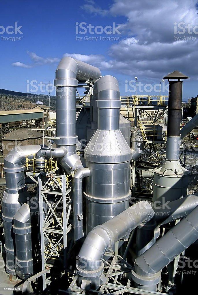 Zinc Smelter royalty-free stock photo