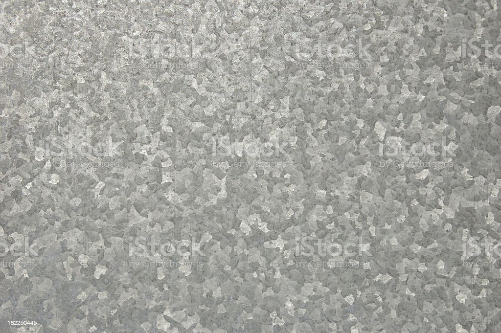 Zinc Steel Plate stock photo