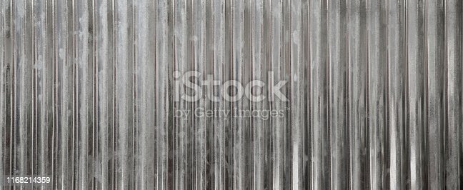 Zinc wall background, Zinc metal sheets texture background. Image size for panoramic banner.