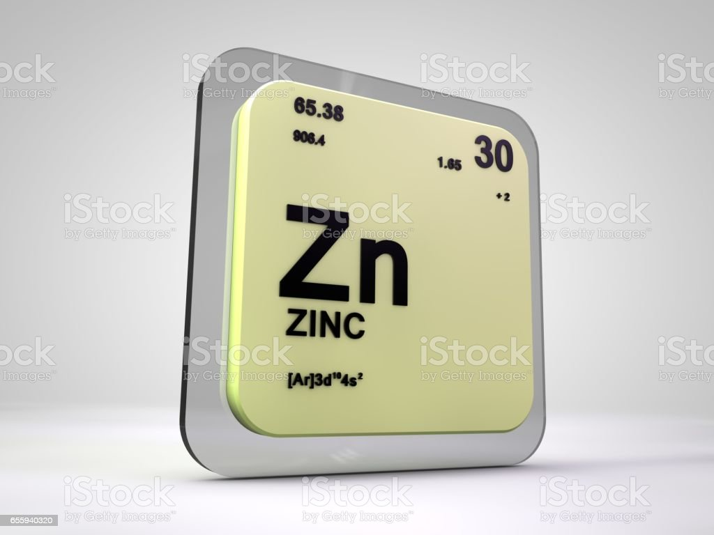 render 3d de zn elemento qumico tabla peridica del cinc foto de stock libre - Tabla Periodica Zinc
