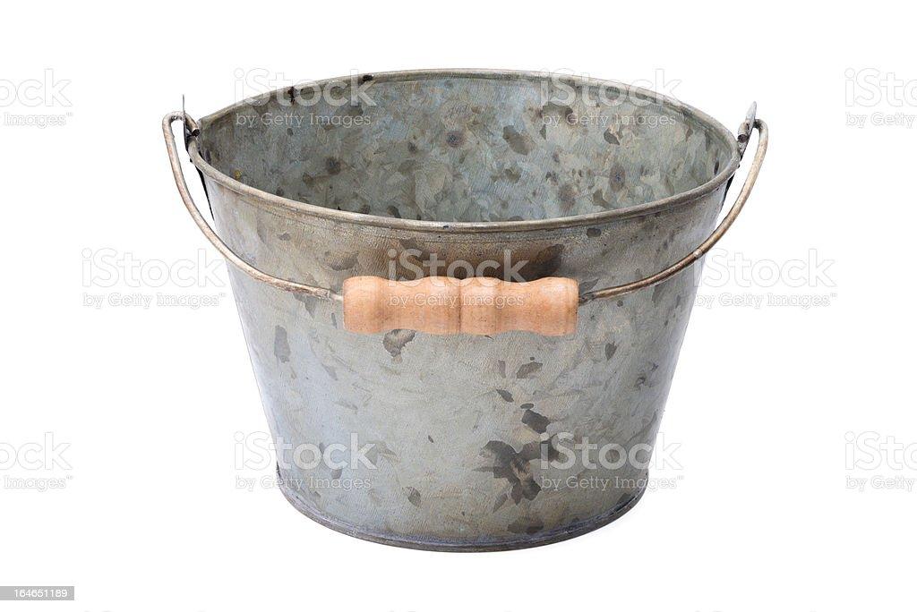 Zinc-coated bucket royalty-free stock photo