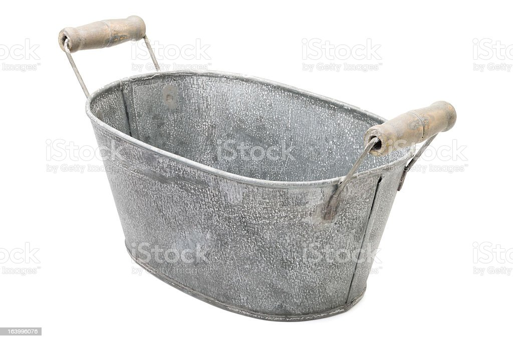 Zinc-coated washbowl royalty-free stock photo