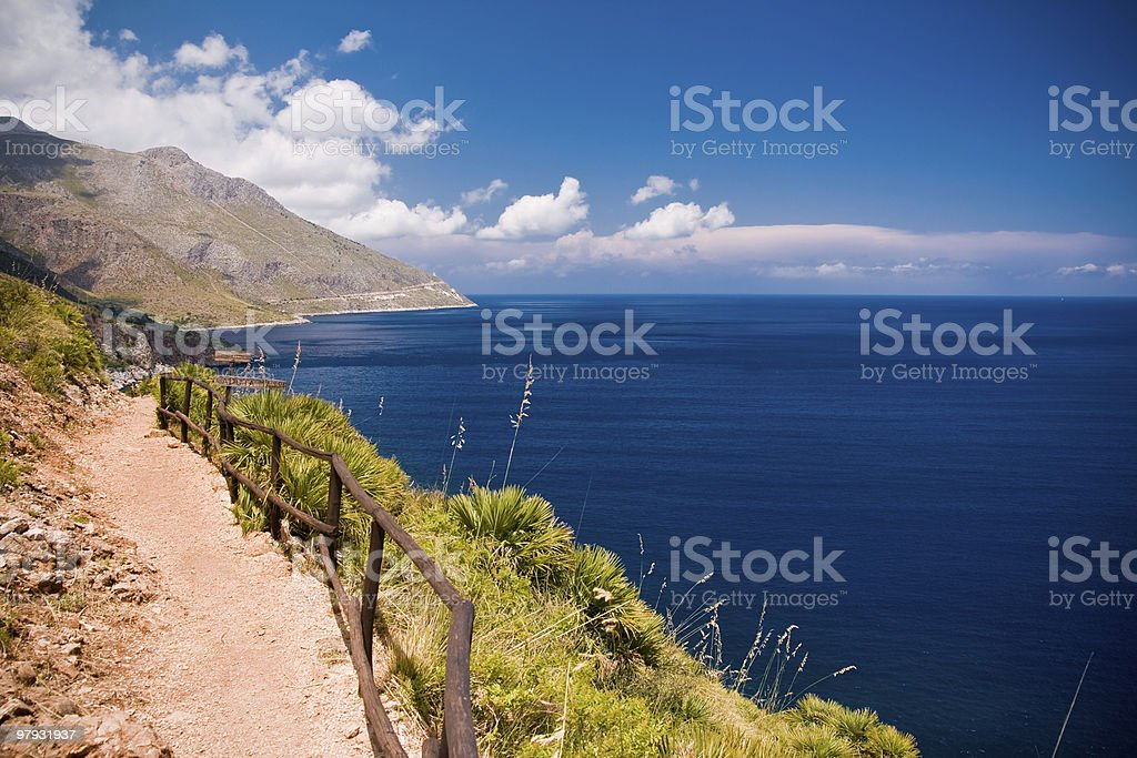 Zingaro Natural Reserve, Sicily royalty-free stock photo