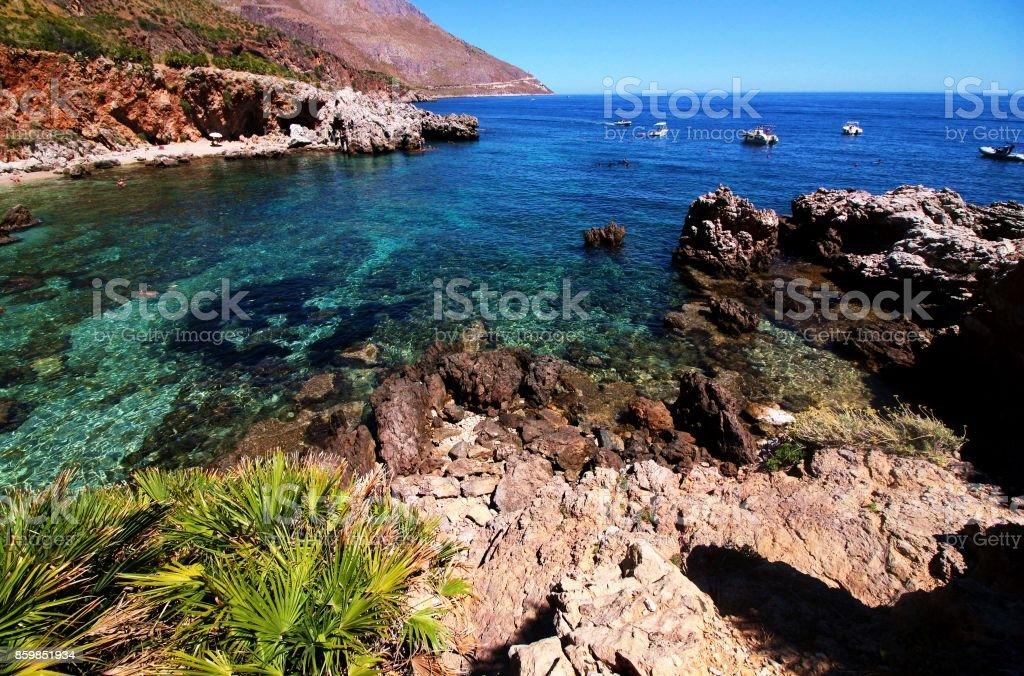 Zingaro reserve landscape stock photo