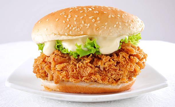 zinger burger-5 - burger and chicken stok fotoğraflar ve resimler