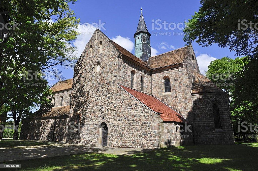 Zinna Old Abbey Church stock photo