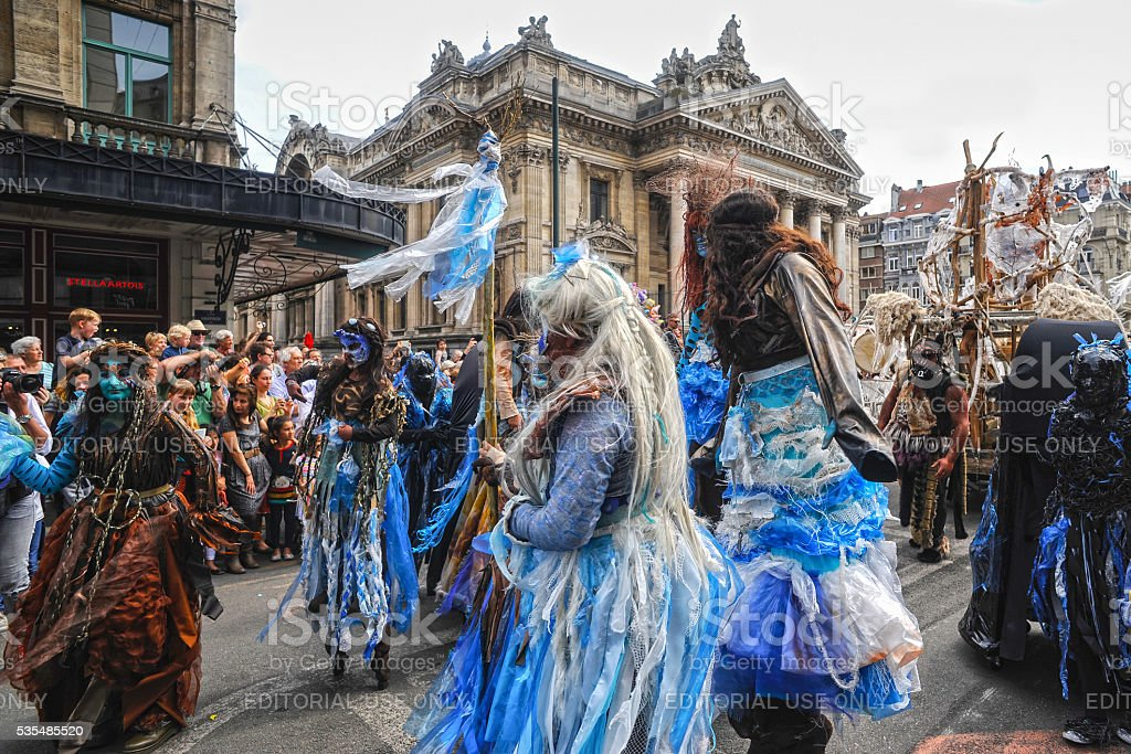 Zinneke parade 2016, Brussels, Belgium stock photo