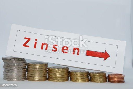 fallende Zinsen und Kosten Einsparung