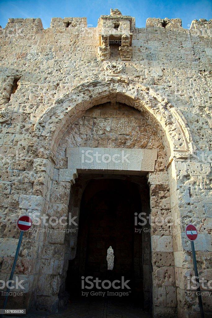 Zion Gate royalty-free stock photo