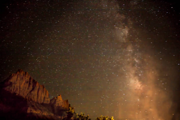 Zion Milky Way stock photo