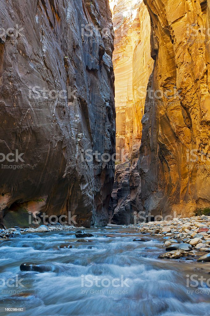 Zion Narrows stock photo