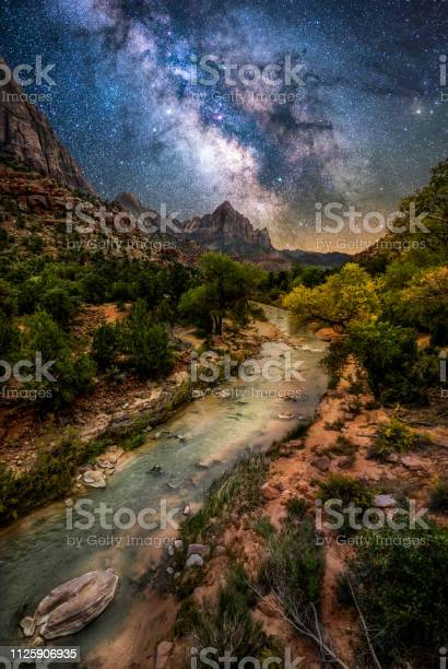 Photo of Zion National Park at night