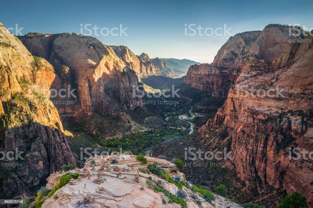Zion National Park at sunset, Utah, USA royalty-free stock photo