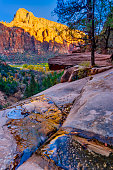 Beautiful Cliffs and Rock Formations in Zion National Park, Utah.