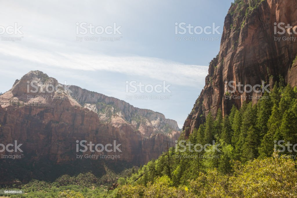 Zion National Park Mountain Landscape in Utah Spring royalty-free stock photo