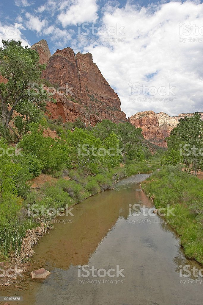 Zion National Park Virgin River royalty-free stock photo