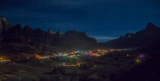 Zion Night stock photo