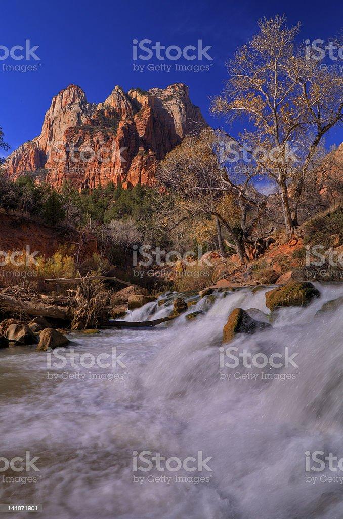 Zion waterfall royalty-free stock photo