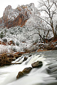 Impression from Virgin river walking path in the Zion National Park