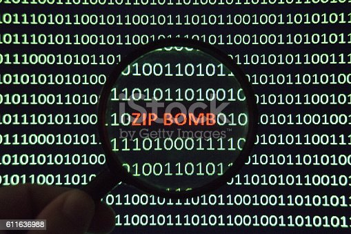 Zip Bomb malware is a malicious archive file designed to crash or render useless the program or system reading it.