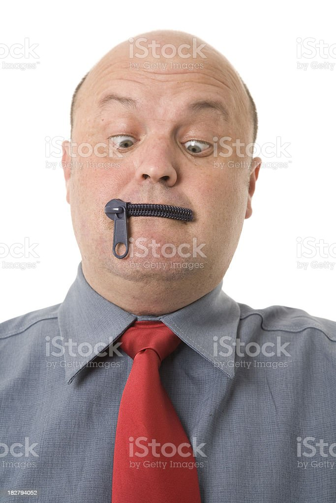 Zip it Up royalty-free stock photo