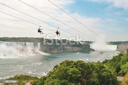 Niagara Falls offers some great entertainment all year around including Zip Lining.