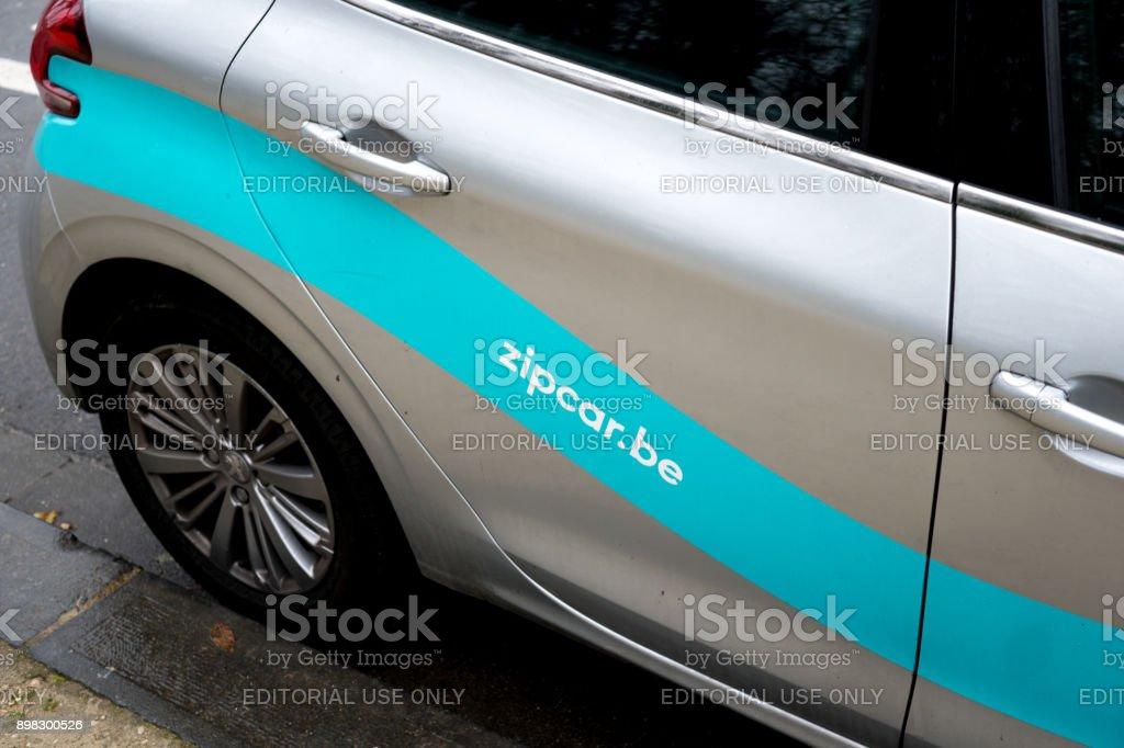 Zipcar logo stock photo