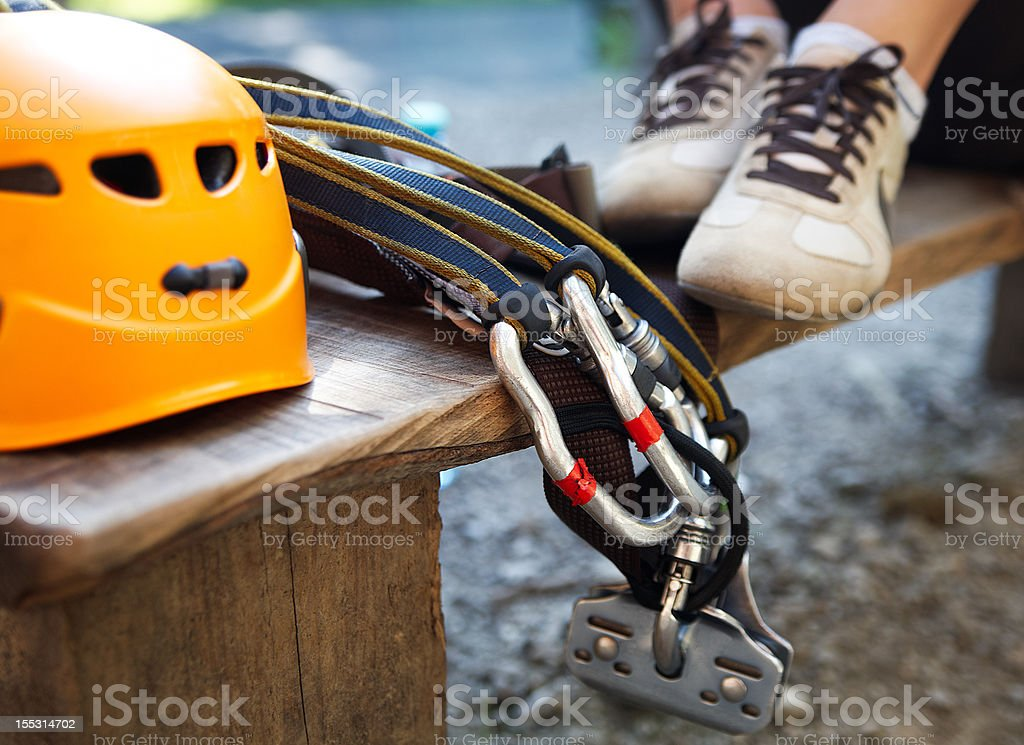 zip-line gear stock photo