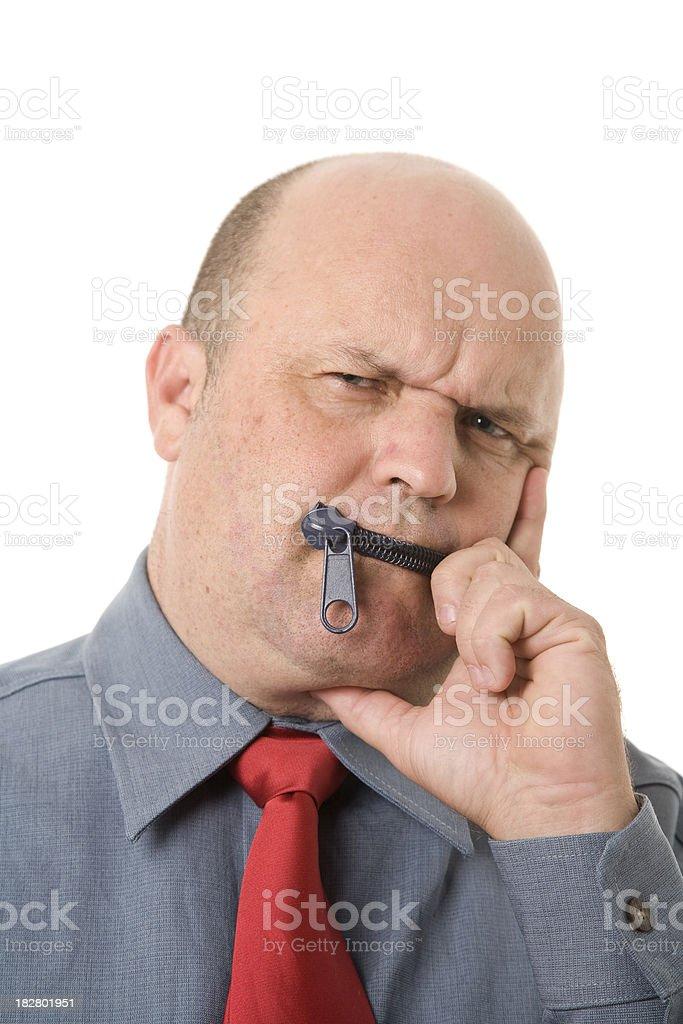 Zipped Lips-englische Redewendung – Foto