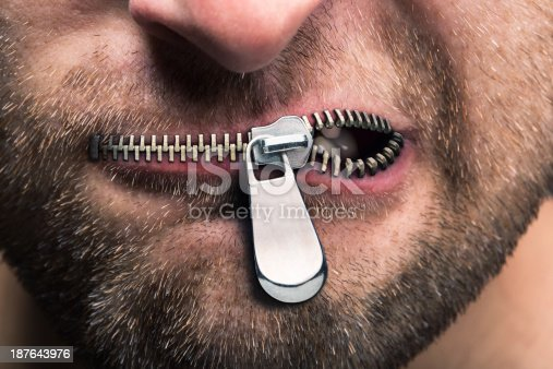 istock Zipped mouth 187643976