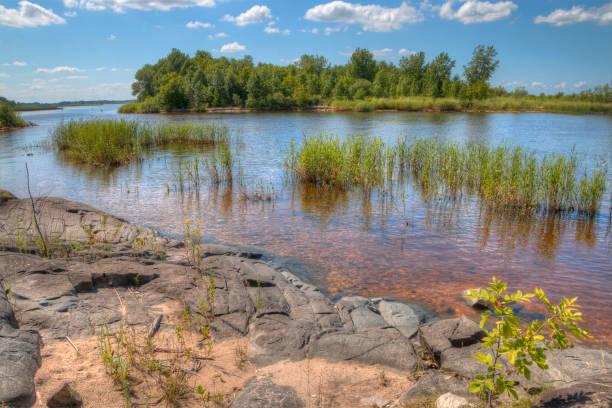 zippel bay state park, lake of the woods, minnesota - boundary waters stock-fotos und bilder