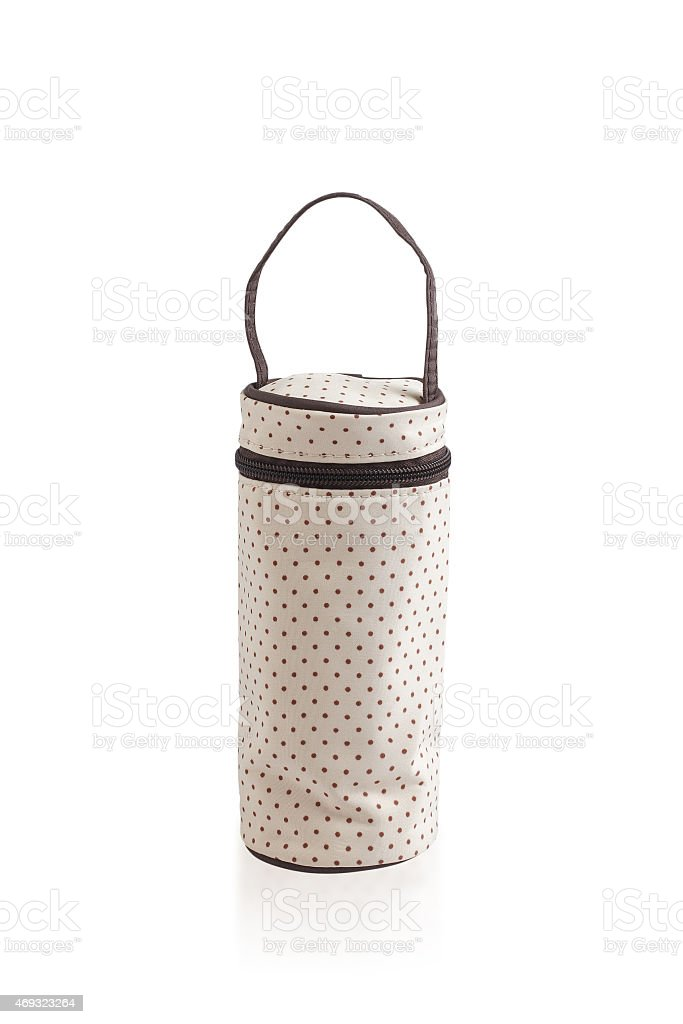 zipper bag for keeping baby milk bottle stock photo