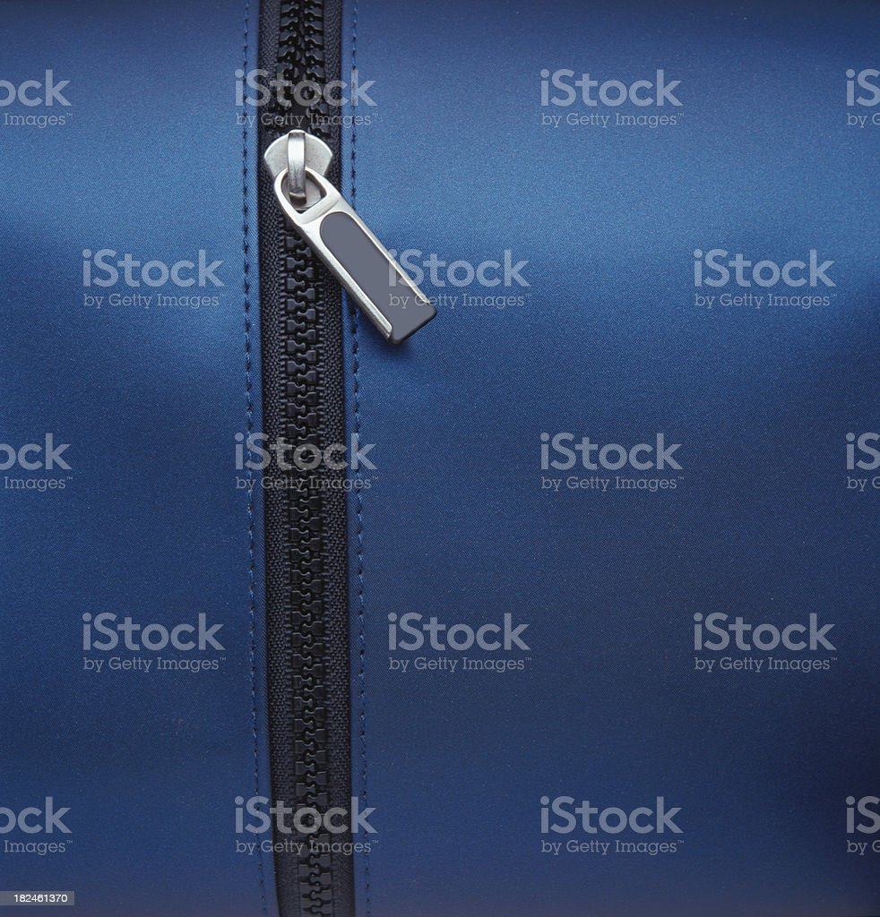 Zipper Closeup stock photo