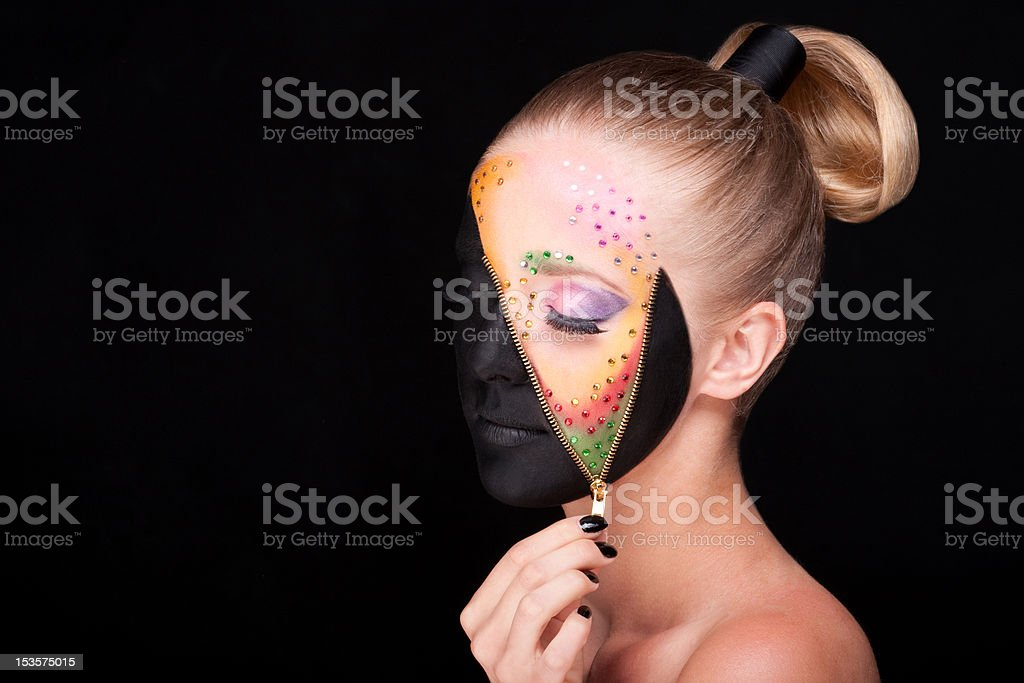 Zipper make-up royalty-free stock photo
