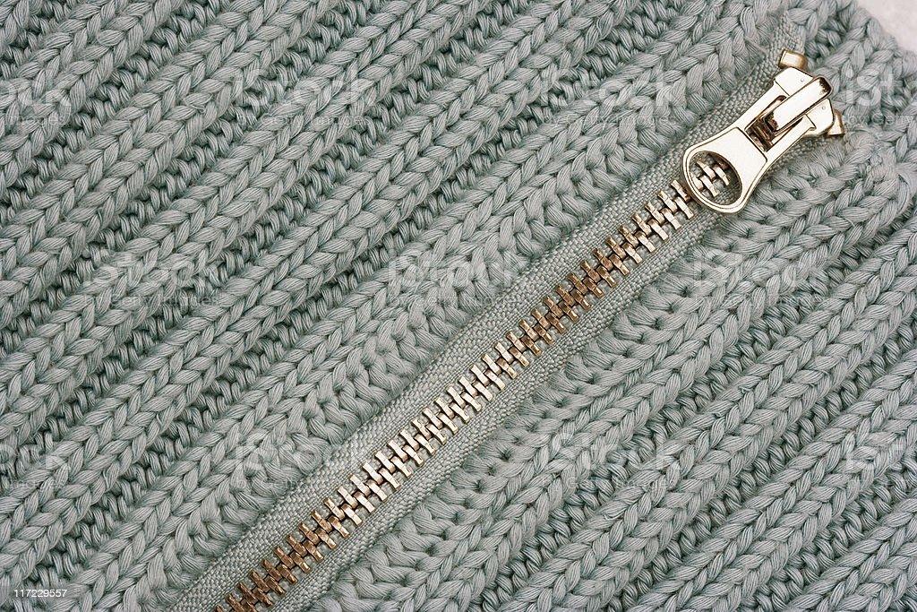 Zipper on Sweater royalty-free stock photo